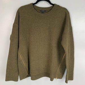J Crew lambswool sweater with side zip